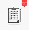 Clipboard with rating stars and pencil icon Review vector image
