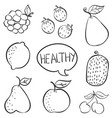 doodle fruit hand draw collection vector image