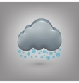 Icon weather Cloud of snow vector image