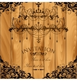 Luxury invitation with chandelier vector image