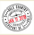 passport stamp design for shithole countries vector image
