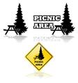 Picnic area vector image