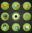 Police Sequrity Flat Icon Set Include road cone vector image