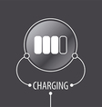 Round logo Battery Charger vector image
