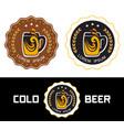 set logo beer shop vector image