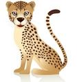 smiling cheetah cartoon vector image