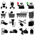 Supermarket icon set vector image