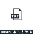 TXT file icon flat vector image