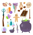 Astrology set of icons vector image