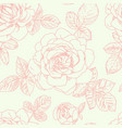 roses seamless pattern vector image