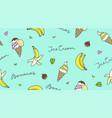 banana and ice cream vector image vector image