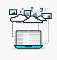 cloud computing line vector image vector image