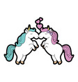 cute unicorns cartoon vector image