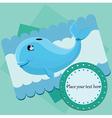Cartoon whale design vector image vector image