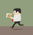manager in a hurry vector image