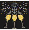Happy valentines day greeting card EPS10 Champagn vector image