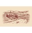 Italy Italian landscape Hand-drawn sketch vector image vector image