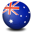 A soccer ball with the flag of Australia vector image