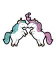 cute unicorns cartoon vector image