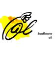 Design element sunflower oil vector image