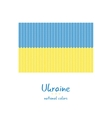 Knitting Ukraine flag Stylish background vector image