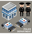 Police department vector image