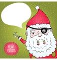 Santa Claus pirate poster vector image