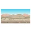 Scene creative landscape of wild West Prairie vector image
