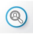search worker icon symbol premium quality vector image