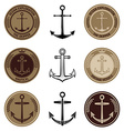 Set of the nautical labels vector image