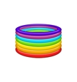 Rings in colours of LGBT icon cartoon style vector image