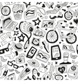 hipsters - seamless backgrounds vector image