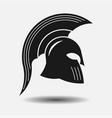 icon spartan helmet silhouette greek warrior vector image