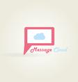 Message cloud logo vector image