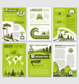Brochure for green nature eco company vector image