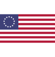 USA Betsy Ross Flat vector image vector image