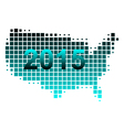 Map of USA 2015 vector image vector image