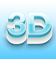 3D Text With Blue And White Bevel 01 vector image
