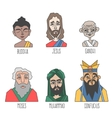 Different confession and religion famous men vector image