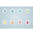 Infographic 3D Numbered Step Bubbles 3 vector image