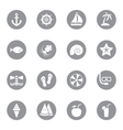 gray flat icon set 9 on circle vector image
