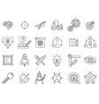 black engineering icons set vector image vector image