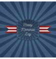 Happy Memorial Day paper Emblem with Text vector image