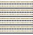 Tribal geometric gold pattern vector image