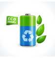Ecology symbol battery vector image