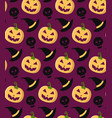 halloween seamless pattern with pumpkins in vector image