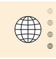icon of abstract globe vector image