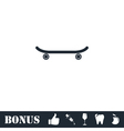 Skateboard icon flat vector image