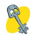 spooky key vector image