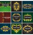 Vintage gold labels vector image vector image